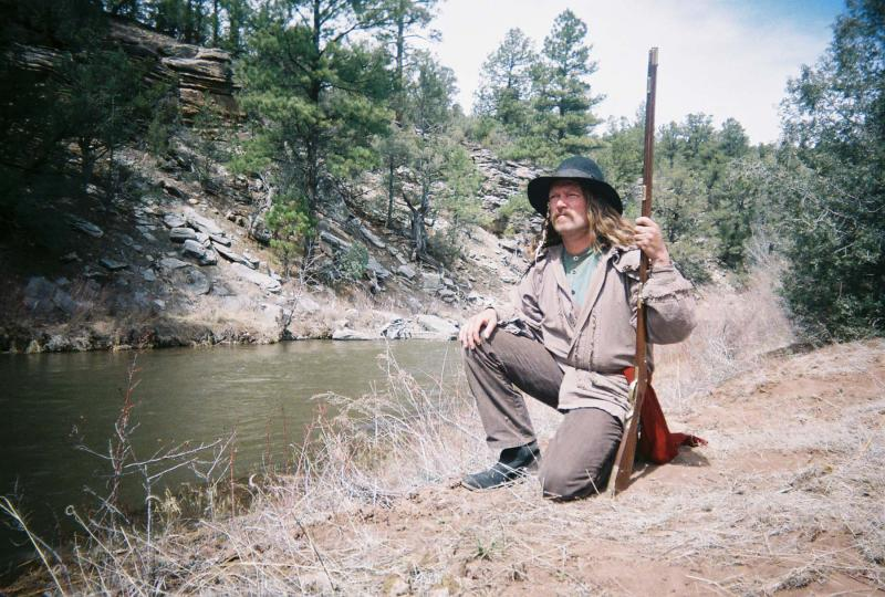 "James E. Blackburn on the set of: 'Taming the Wild West"" - 2005"