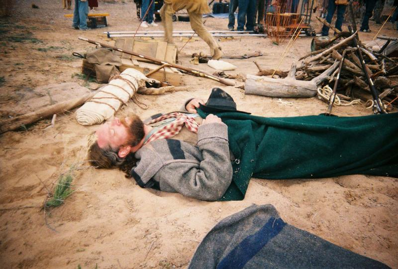 "James E. Blackburn on the set of ""Taming the Wild West"" - 2005"