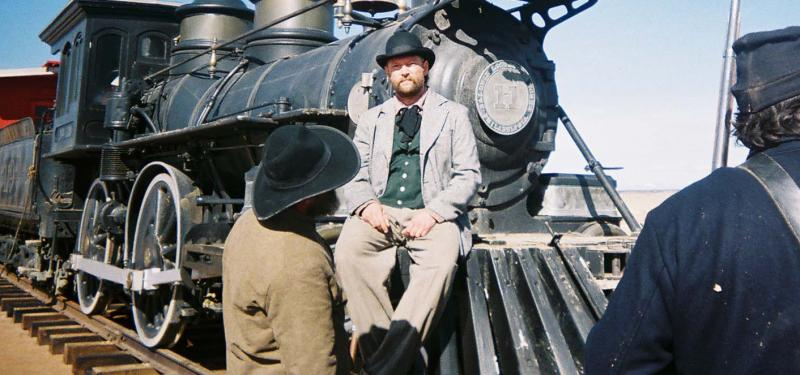 "James Blackburn on the set of ""Into the West"" - 2005"
