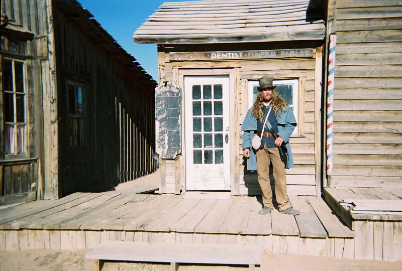 "James Blackburn on the set of ""Into the West""- 2005"