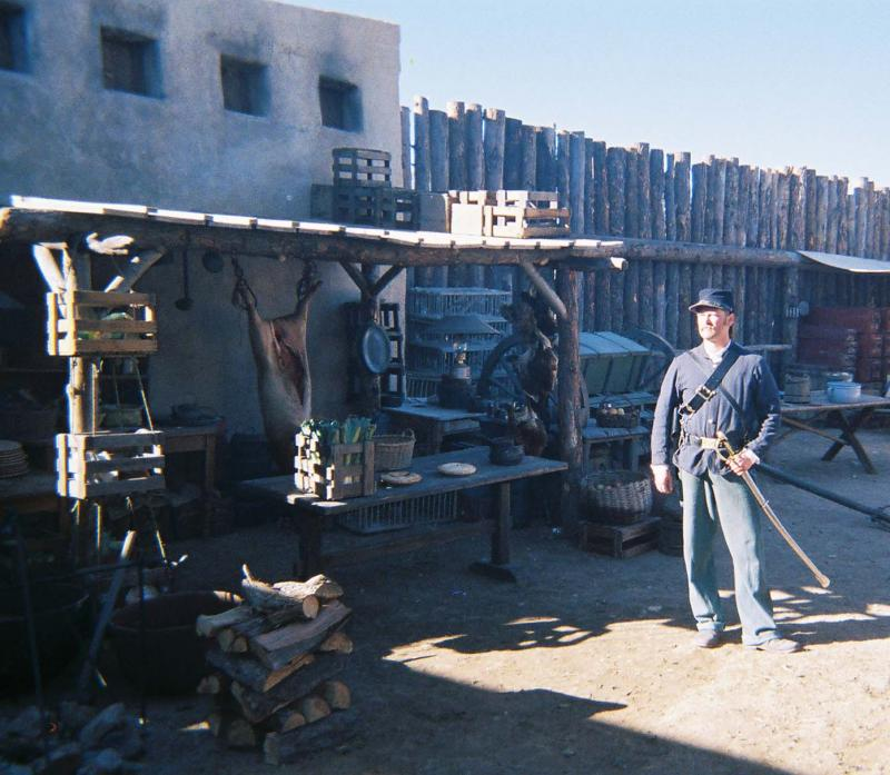 "James E. Blackburn on the set of ""Into the West"" - 2005"