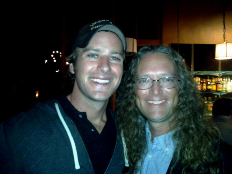 Armie Hammer and James Blackburn - August 2012