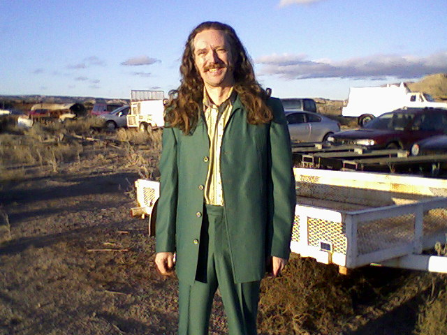 "James E. Blackburn on the set of ""Love Ranch"" (2008)"