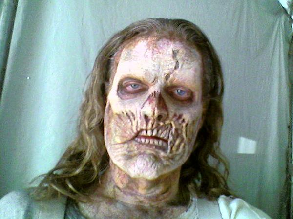 "James E. Blackburn on the set of: ""Undead or Alive"""