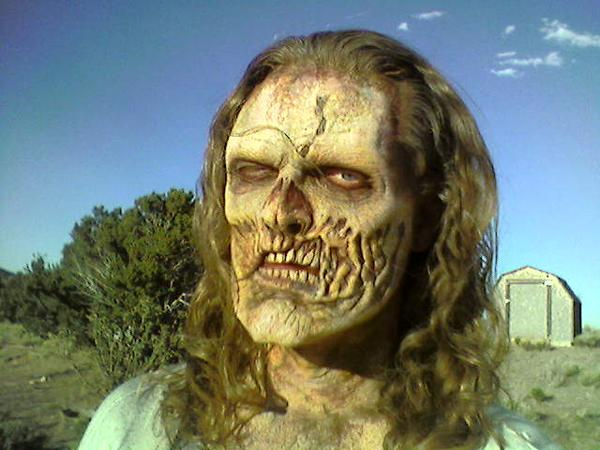 "James E. Blackburn as a zombie on ""Undead or Alive"""