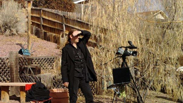 "James Blackburn on the set of ""The Witching Hour"" as Assistant Director (2010)"